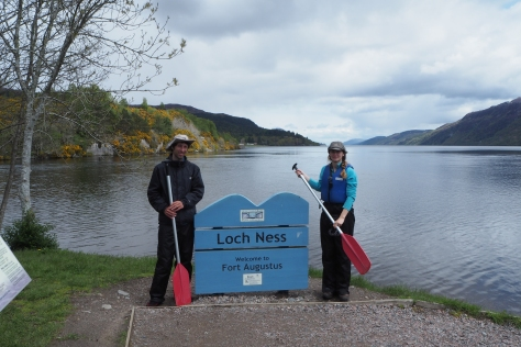 Aan het begin van Loch Ness, Great Glen Canoe Trail