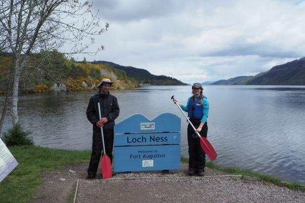 Aan het begin van Loch Ness, Great Glen Canoe Trail