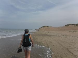 De eerste zandkilometers