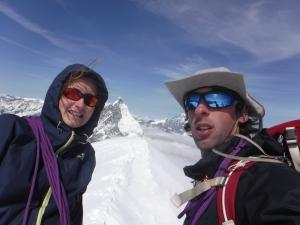 Summit Breithorn (25 augustus 2015, 12u) met Matterhorn in de achtegrond