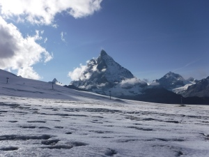 Theodulgletsjer, met de Matterhorn in de achtergrond