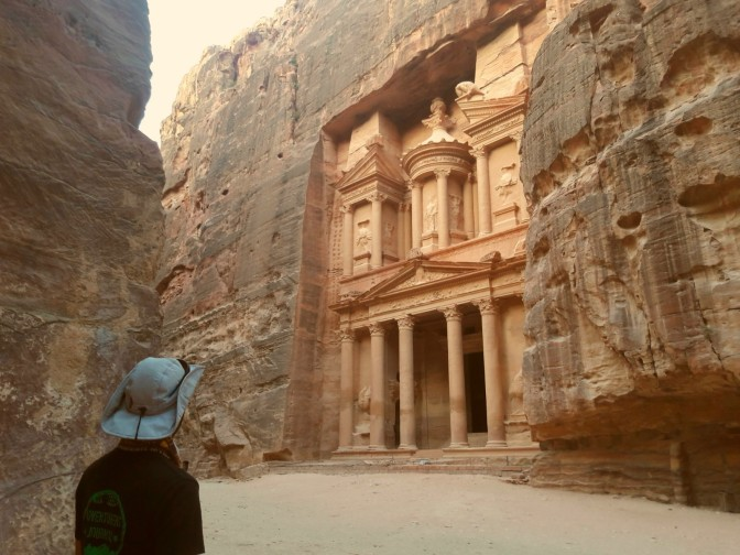 Als Indiana Jones in Petra